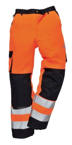 Regular Portwest TX51ONRM Lyon Hi-Vis Trouser Orange//Navy Size: Medium