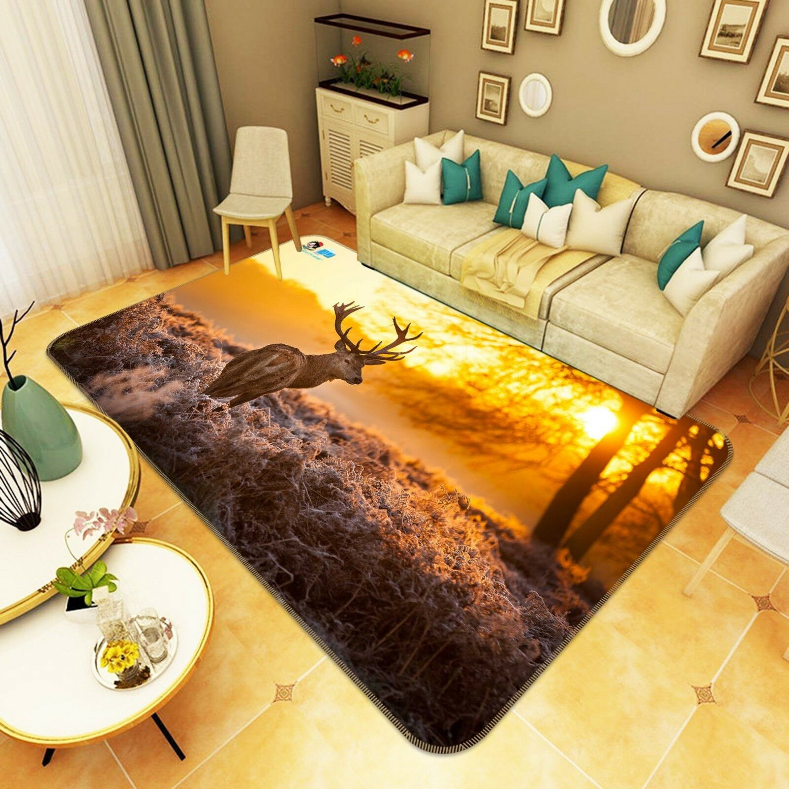 3d Alce crepuscolo 136 non-slip CARPET MAT quality elegante Carpet de Summer