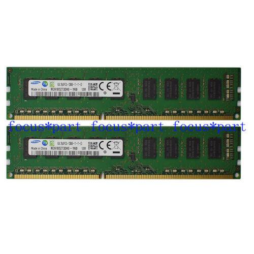 Samsung 8GB 2X4GB DDR3 2RX8 1600MHz PC3L-12800E 240pin ECC Unbuffered Memory Ram