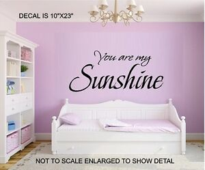 Image Is Loading You Are My Sunshine Vinyl Decal Wall Letters