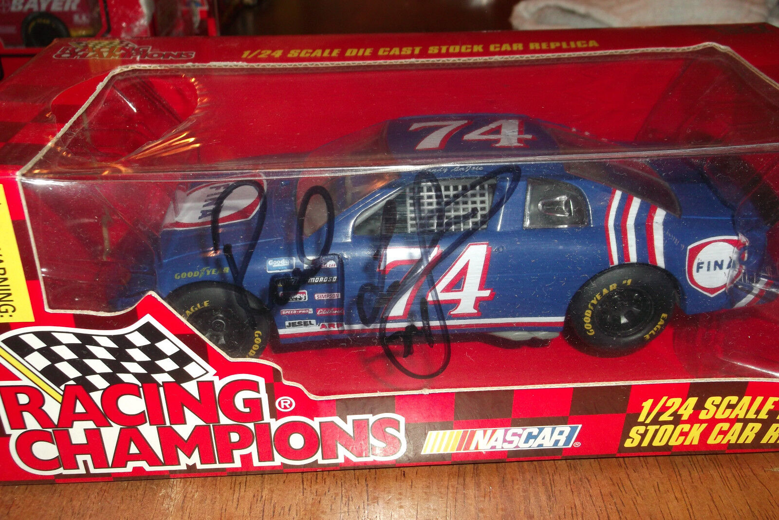 RANDY LaJOIE FINA AUTOGRAPHED RACING CHAMPIONS 1997 EDITION 1 24 (49