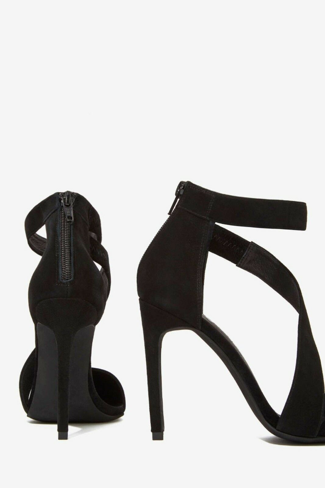 Jeffrey Campbell Septiva Black Suede Heels Pump Exclusively 4 Nasty Nasty Nasty Gal  145   7 24ed85