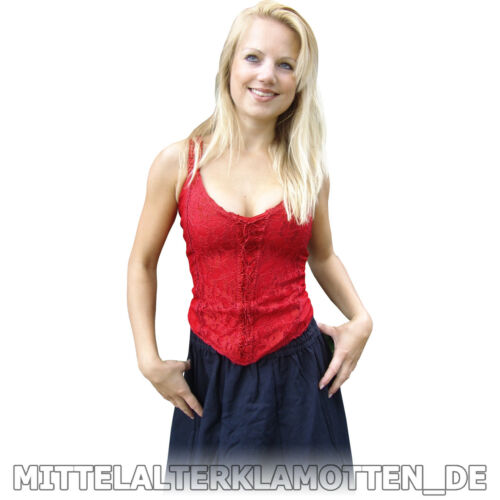 Mieder Top Miederbluse Bluse Miedertop S Mittelalter Träger Mittelalterbluse xxl TxqFPw