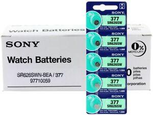 5-NEW-SONY-377-SR626SW-SR66-V377-watch-battery-EXP-2021-JAPAN-USA-Seller