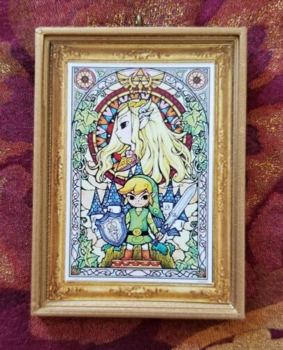 Zelda Link Christmas Handmade Ornament//Magnet//Dollhouse miniature