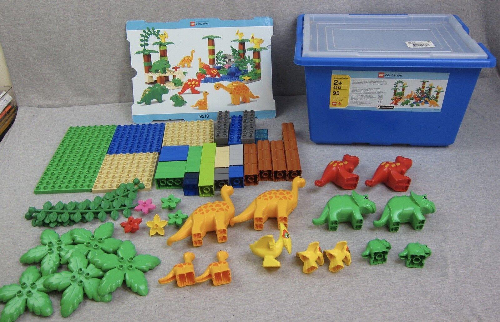 Lego Duplo 9213 Juego De Educación dinosaurios 2007 Dinosaurio Completa Brontosaurio Trex