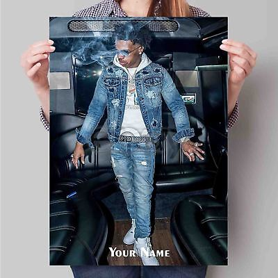 Custom Personalized Silk Poster Lil Baby Wall Decor