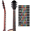 2Pcs Guitar Fretboard Notes  Musical Scale Sticker  Musical Aids ProfessionalNew
