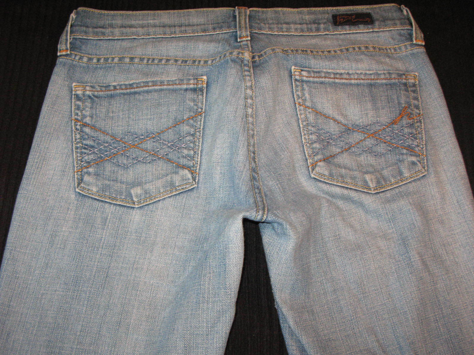 Citizens of Humanity Elle 064 Jeans Sz 28 Low Bootcut Distressed w Stretch