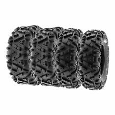 SunF 27x9-12 27x11-12  A/T ATV UTV Tires 6 PR Tubeless POWER I A033 [Bundle]