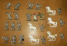 20x anciennes figurines vintage - JEAN HOEFLER - chevaliers knights - 60/70's