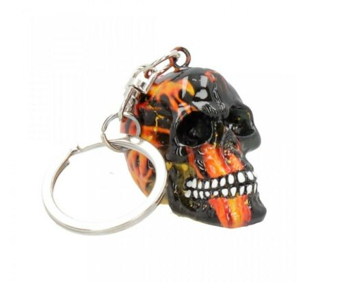 NEUF Porte-clés Enflammé Inferno Crâne tête de mort