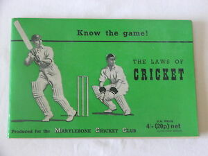 Vintage-Cricket-Book-Know-the-Game-The-Laws-of-Cricket-1970-Print-Version