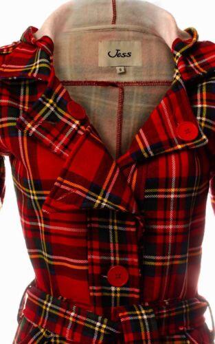 da Tie con Stewart Royal lungo donna Small con cappuccio Cappotto Size X motivo scozzese g5HBqC