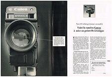 PUBLICITE advertising  1980   CANON   caméra AF 514 XLS    éléctronique (2p)