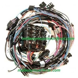 image is loading dash-wiring-harness-w-o-a-c-72-chevy-corvette-ncrs-