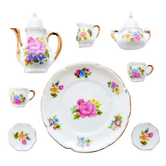 1/6 Dollhouse Miniature Porcelain Coffee Tea cup set #A K8L7 O8I2