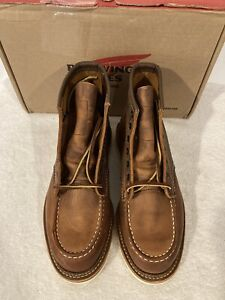 "Red Wing Heritage 6"" Moc Toe Men's Boots Sz 8D Copper Rough Tough Leather 1907"