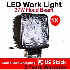27W 12V 24V LED Work Light FLOOD Tractor Truck SUV UTV ATV Off Road Square Lamp