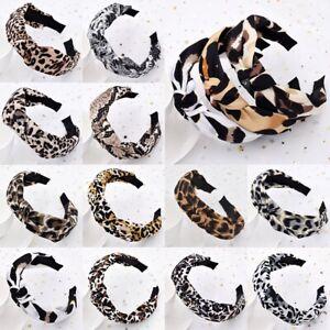 Women-Girl-Leopard-Print-Headband-Turban-Hairband-Head-Tie-Twist-Knot-Hair-Hoops