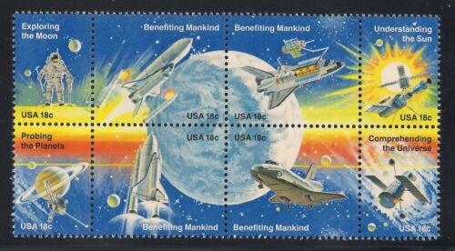SET OF 8 POSTAGE STAMPS SPACE ACHIEVEMENTS MINT CONDITION 1981 NASA U.S