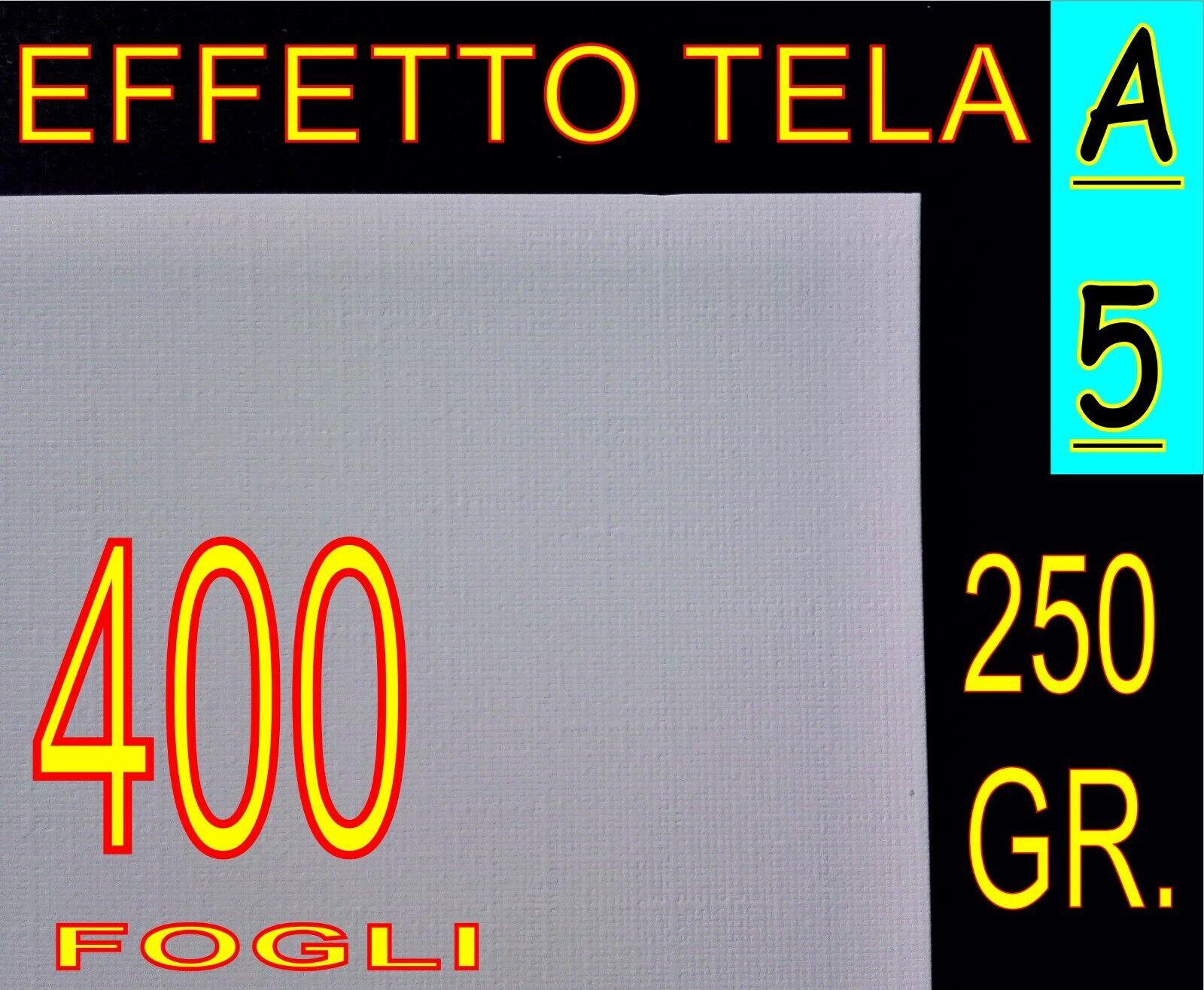 400 FF A5 CARTONCINO EFFETTO TELA x stampante laser  BILGIETTI FOTO RITRATTI