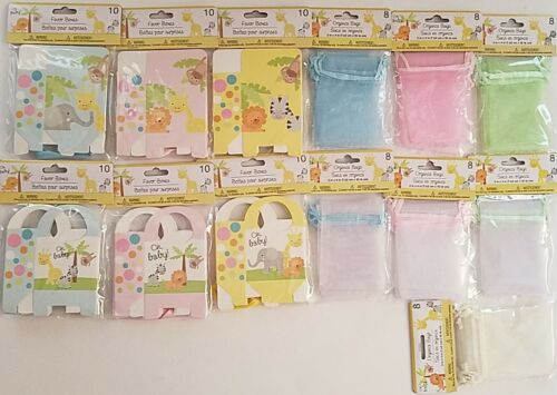 Baby Shower Gift Favor Boxes Bags Select Color /& Type