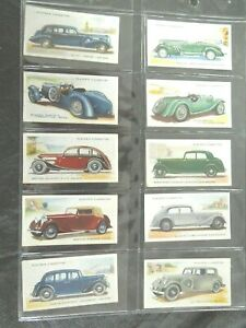 1937-MOTOR-CARS-vintage-vehicle-autos-series-2-set-50-cards-Tobacco-Cigarette