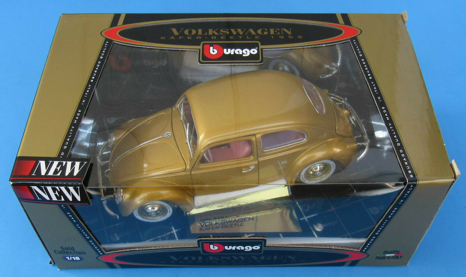 Bburago,1955 Volkswagen Beetle Die -Cast modellllerler Bil