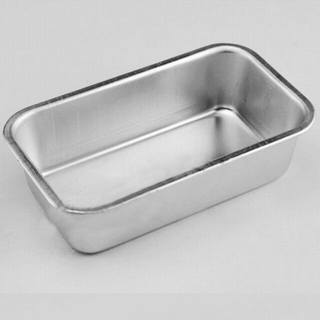 Small Rectangle Loaf Tin for Home Bread Cake Cakes Baking Bakeware Aluminum Box