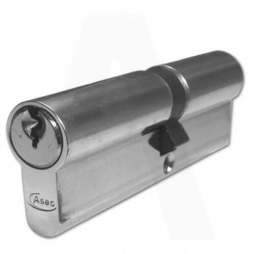 Asec Yale Style 5 Pin Euro Cylinder Nickel Plated 80mm 30//50 Lock UPVC Door