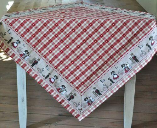 Nappe moyens plafond Alsace style maison de campagne CARREAUX ROUGE Décoration de Table Coton