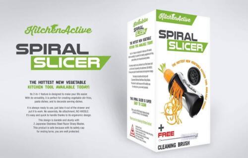 New-Black-Kitchen-Active-Spiralizer-Spiral-Slicer-Pasta-Zucchini-Spaghetti-Make
