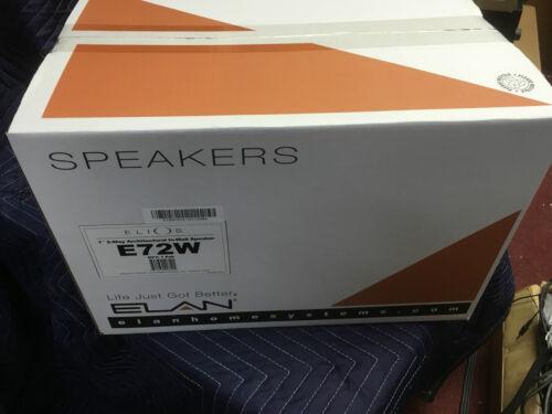 """Elan E72W in wall speakers Pair 2 way in wall speakers 7/"""" woofer and 1/"""" tweeter"""