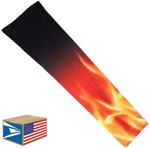 COMPRESSION ARM ELBOW SLEEVE Blazing Fire Flames BASKETBALL YS/YM/YL/S/M/L<wbr/>/XL