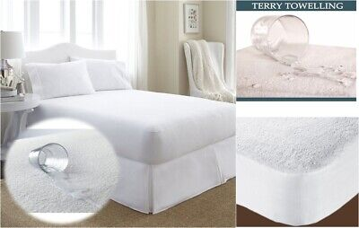 Sheet All Sizes Terry Towel Mattress Protector Waterproof Fitted Bed Cover