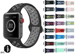 Details about iBand For Apple Watch Strap 38MM 40MM 42MM 44MM, Soft Mesh  Silicone Sport iwatch