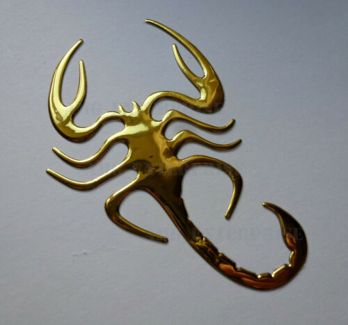 GOLD Chrome Effect Scorpion Badge Decal Sticker for Land Rover Discovery Series