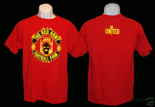 RED ARMY T-SHIRT//Jersey Manchester United Soccer FIRM 1