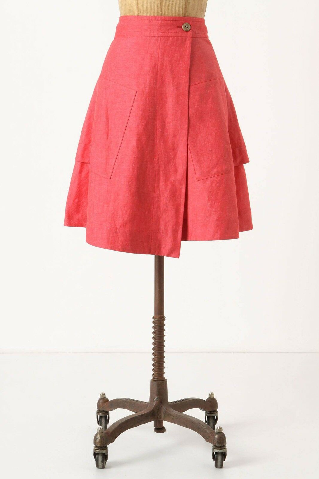NIP Anthropologie Vast Wrap Skirt Pink Size 0
