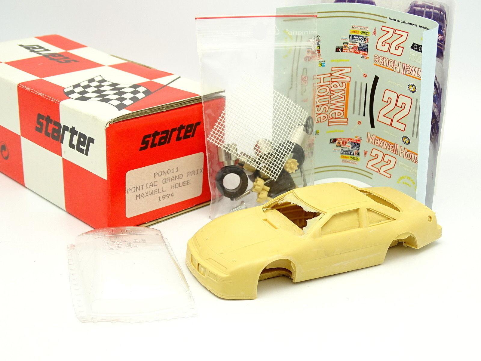 Kit De Inicio para montar 1 43 - Pontiac Grand Prix Maxwell House Nascar 1994