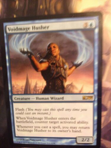 Blue Media Inserts Mtg Magic Rare 1x x1 1 PROMO Voidmage Husher