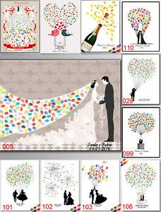 Fingerabdruck Daumenabdruck Hochzeit Ballon Gastebuch Leinwand