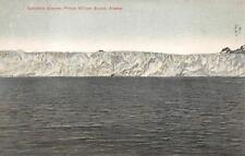 COLUMBIA GLACIER PRINCE WILLIAM SOUND ALASKA POSTCARD (c. 1910) **