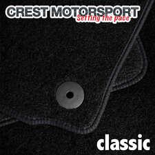 VW PASSAT (B6) 05-07 (Saloon) (Oval Clips) CLASSIC Tailored Black Car Floor Mats