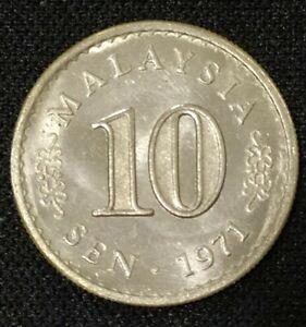 Malaysia 10 Sen 1971 Keydate (UNC) #FORGERY