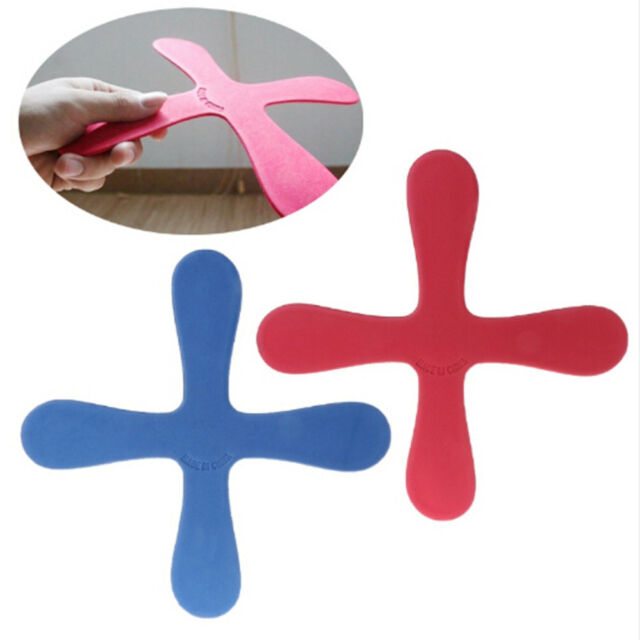 Cross Shape Boomerang Flying Toy Outdoor Parksaucer Funny Game Children SpoDOFA