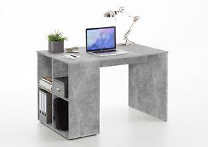 FMD Schreibtisch Gent Computertisch Bürotisch in 3 Farben mit 4 Ablagefächern