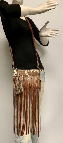 body Cross WLong Raviani HairCroco Western Fringe Brown Leather Style Rodeo 8wPn0OXk