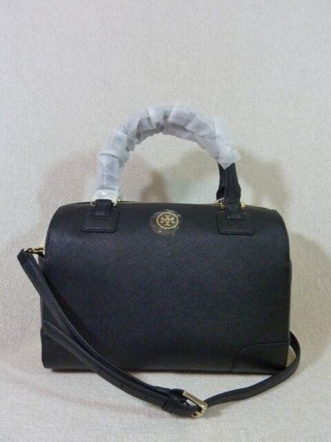 aaa87df0dda NWT Tory Burch Classic Black Saffiano Leather Robinson Middy Satchel  575